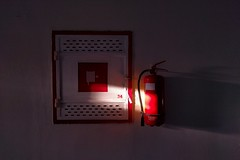 34 Red (lunat1k) Tags: light shadow red fire sofia vibrant safety bulgaria lucky chiaroscuro 34 nuboyana nexus5x nuboyanafilmstudios