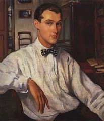Sergei Ernst, 1922 // by Zinaida Serebriakova (mike catalonian) Tags: 1920s portrait male painting ukraine 1922 halflength xxcentury zinaidaserebriakova