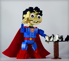 Superman Brickhead (Frost Bricks) Tags: lego batman vs superman chess battle moc