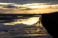 Sunrise over Seaforth (cathbooton) Tags: summer sky seascape beach clouds docks sunrise landscape dawn solstice wirral firstlight merseyside meols seaforth june21st longestday beautifulearth canonphotography canonusers caoneos