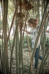 In Wonderland (B l u e A i r) Tags: madrid light espaa primavera luz nature beauty forest 35mm garden trenes spring spain nikon prince bamboo fisheye redhead bosque prncipe fullframe 8mm bamb jardn d800 aranjuez