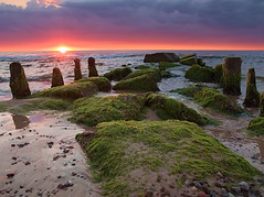 Baltic Sea - Ostsee - Morze Batyckie (gerrit-worldwide.de) Tags: ocean sunset sun seascape beach water clouds fire sand shoreline poland olympus balticsea shore polen ostsee em1 2016 zuiko14542835