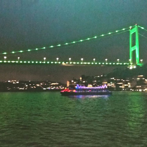 #bosphorus #bridge by night. #istanbul #Turkey