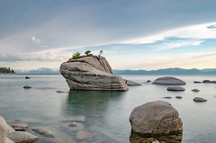 Other side of sunset at Bonsai Rock (naveencseceg) Tags: california lake nikon weekend tahoe laketahoe roadtrip filter nd bonsai longweekend neutraldensity bonsairock nikond5100