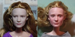 Disney Store Alice Repaint Before and After (pseudanonymous) Tags: doll alice disney 16 acrylicpaint disneystore repaint alicethroughthelookingglass playscale miawasikowska