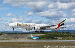A6-EBV & PH-BGP (Christoffer Andersen) Tags: oslo emirates boeing klm osl b737700 b777300er osloairportgardermoen