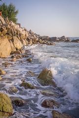 Seashore waves (aleksey_kondratiev) Tags: turkey fethiye oludeniz mediterranean sea water blue wave waves seashore rocks sky