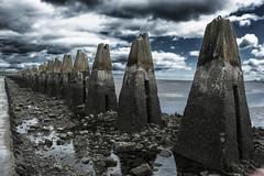 tide's out! (morag.darby) Tags: sea sky rock contrast digital concrete coast scotland nikon walkway shore nikkor cramond cramondisland drumsands d3300