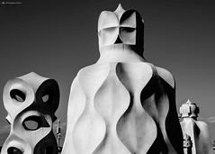 esercito di comignoli (kingeston) Tags: barcelona bw white black monochrome architecture nikon noir bn espana bianco blanc nero architettura barcellona spagna pedrera gaud monocrome d7000 kingeston