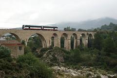2511/2512 GATA DE GORGOS (lagunadani) Tags: rio puente paisaje alicante 2500 trenet jalon fgv xalo gatadegorgos