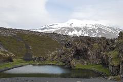 Djúpalónssandur, Iceland (Tiphaine Rolland) Tags: mountain lake beach water montagne iceland nikon eau lac 1855mm 1855 snæfellsjökull plage islande 2016 djúpalónssandur d3000 nikond3000