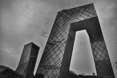 Chinese TV is all about imagination (csalirod) Tags: china crazy beijing cctv bnw achitecture