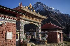 Tengboche Monastery (Adept Photography) Tags: nepal stupa monastery nepalese yaks everest himalayas 2016 tengboche stupas