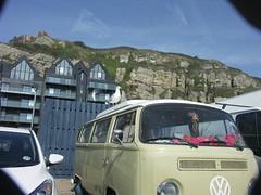 Seagull and Volkswagen (sebastian.seipp) Tags: birds seagull volkswagen bulli bus minolta dimage a200