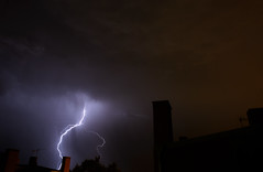 (Ian Ponce) Tags: madrid longexposure orange storm black rain night contrast nikon violet stormy thunderstorm lightning nikkor thunder d5200 nikond5200