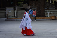 The Japanese girls walking before the bride and groom (Suman Dahal) Tags: tokyo harajuku japanesewedding meijijingu meijishrine