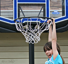 dunked it (ThroughMyEyes_JKM) Tags: summer people playing grass basketball kids hoop fun backyard hanging