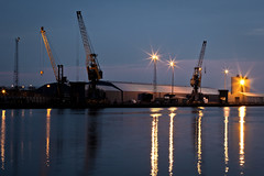 Port of Belfast (ColinParte) Tags: industry night docks harbor nightshot harbour crane ships belfast cargo silo cranes coal shipping jolanta