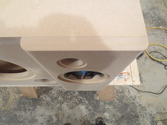 Roundovers on speaker baffles (burritobrian) Tags: diy speaker boombox overnightsensations speakerbuild sd215a88