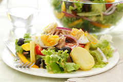 Salad Nicoise (Alexandr Sherstobitov) Tags: food tomato studio salad egg olive delicious potato studioshot onion pastasalad studiolighting foodphoto foodphotography nicoise foodography foodstyling canontse90mmf28 5dmarkii 5dmkii canoneos5dmkii canon5dmark ii5dmark
