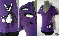 Violetti paita (Knirppu Pippuri) Tags: sewing clothes gift 2013