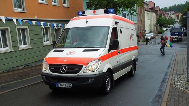 germany deutschland ambulance mercedesbenz rettungswagen sprinter drk deutschesroteskreuz blaulicht emergencyvehicle w906 drkkaterwolkramshausen852