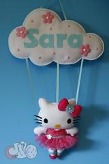 Roda e rodopia... (Mimos & Feltrices) Tags: kitty rosa felt quarto nome feltro menina bailarina enfeite