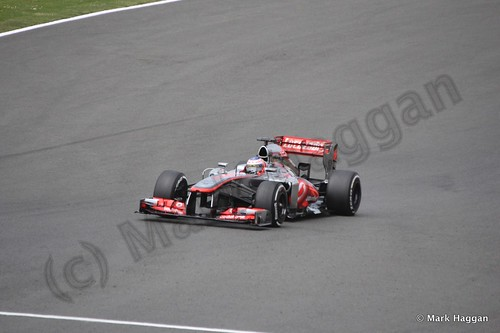 Jenson Button in Qualifying for the 2013 British Grand Prix