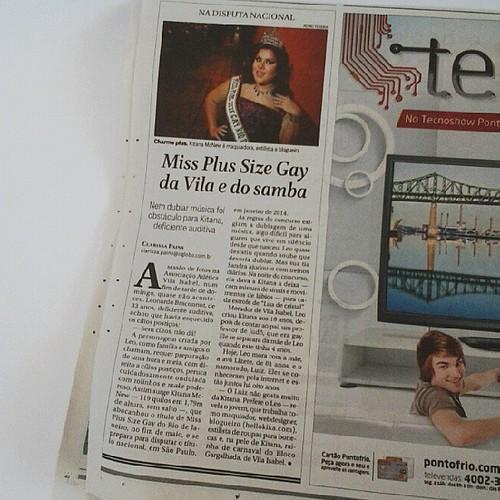 Matéria publicada no jornal GLOBO de hoje na página. E também no bairros.