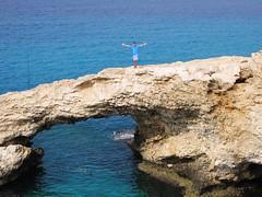 """Love Bridge"", Ayia Napa sea caves (@CyprusPictures) Tags: cyprus beaches getty rockformations rockbridge ayianapa nissibeach capegreko lovebridge cypruspictures photosofcyprus tasiamarisbeachhotel thulbornchapmanphotography"