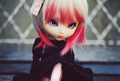 Ayanne~ (~~☆ Oshua☆~~) Tags: pink black rose hair doll noir dress body collection planning blond corps wig pullip custo jun cheveux poupée obitsu stica ayanne