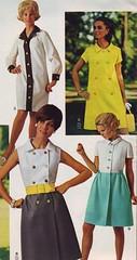Spiegel 69 SS 4 dresses (jsbuttons) Tags: 1969 fashion vintage clothing mod 60s dress buttons spiegel skirt clothes dresses button sixties