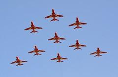 RAF Red Arrows Apollo Formation (Mark 1991) Tags: redarrows raf royalinternationalairtattoo royalairforce baehawk riat2013