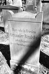 Grabstelle des Alexander Rindskopf (1812-1876) - Handelsmann aus Frankfurt (S. Ruehlow) Tags: friedhof cemetery grave graveyard tomb jewish grab jewishgraveyard jüdisch jüdischerfriedhof alterjüdischerfriedhof grabstelle alterjüdischerfriedhoffrankfurtam