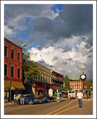 Spectacular evening at Depot Town (sjb4photos) Tags: clouds michigan ypsilanti depottown 2013depottown