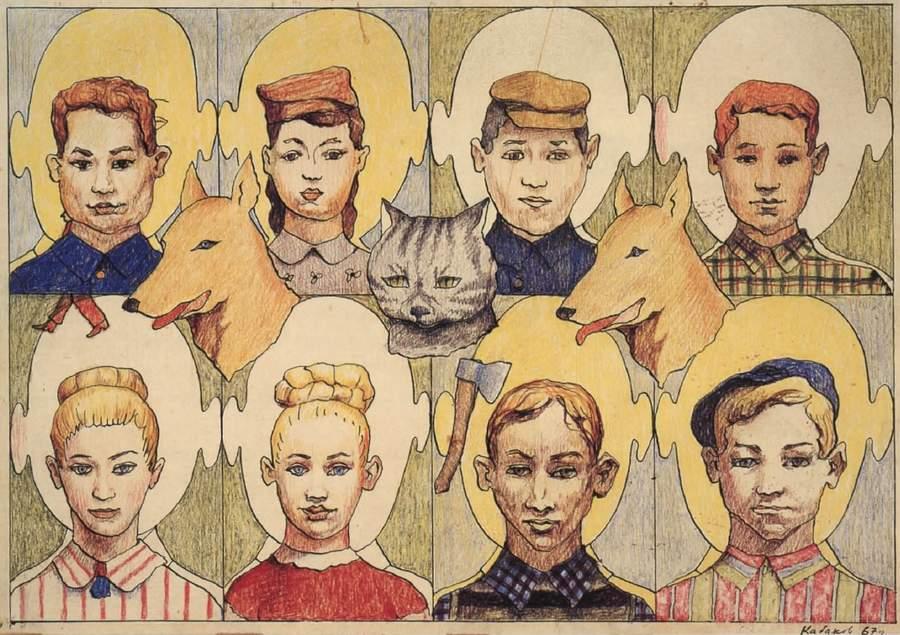Неофициальная графика и живопись Ильи Кабакова в СССР практически не выставлялась