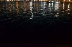 (pop archaeologist) Tags: city nyc newyork brooklyn night reflections pier eastriver darkwater greenpoint transistorpark manhattanskylinereflection