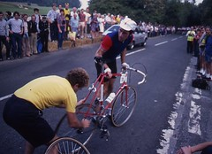 1982 World Cycling Champ002 (Tim Callaghan) Tags: cycling jones 1982 bikes flags kelly 35mmslides roads crowds goodwood lemond saroni worldroadracechampionships