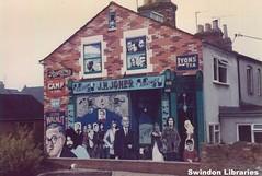 c1979?: Ken White mural at Union Street/Prospect Place, Swindon (Local Studies, Swindon Central Library) Tags: colour jones mural swindon publicart 1970s wiltshire 1980s oldtown anon unionstreet prospectplace san01 rsandell