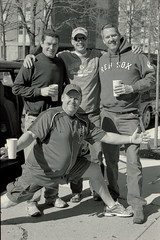 Fans (dtanist) Tags: road red film boston analog pose 50mm bay state pentax kodak massachusetts sox fans smc ricoh bw400cn pentaxm xrm
