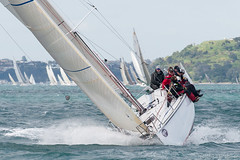 Nosaka (Mike Brebner) Tags: sea newzealand seascape classic sport race boat photo sailing photos action harbour yacht weekend images auckland coastal nz boating sail nzl yachting rangitotochannel 8560 bluesail nosaka newzealandcmike