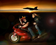 Top Gun 2 - Jester's Revenge (Studio d'Xavier) Tags: 365 topgun ducatisupersport fa18 navalaviation 365days explored werehere inspiredbythefilm 299365 october262013 vision:sunset=0893 jestersrevenge