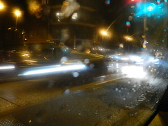 Luci confuse (WaterCutter) Tags: auto street city light cars car rain night lights automobile via luci pioggia macchina notte luce sera città automobili macchine