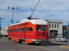 MUNI #1061 (St. Louis Car Co. PCC) in San Francisco, CA (CaliforniaRailfan101 Photography) Tags: trolley tram muni streetcar sanfranciscoca pcc streamliner sanfranciscomunicipalrailway stlouiscarcompany