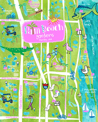 PATTY_RYBOLT_PALMBEACHFLORIDA_1B_WEEK4 (Patty Rybolt Designs) Tags: shop golf sailing florida map alligator ibis biking tropical palmbeachgardens lillarogers mats1b