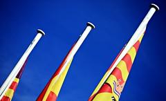 Espaa (M a u r i c e) Tags: blue light red sky espaa sunlight white color colour yellow canon spain colorful flag bluesky ibiza colourful eivissa baleares balearic eos450d