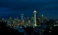 Seattle, Washington (Surrealplaces) Tags: seattle skyline skyscraper washington cityscape spaceneedle