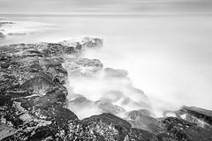 Craster (maxblackphotos) Tags: uk greatbritain blackandwhite seascape outdoors mono coast seascapes noiretblanc scenic nopeople coastal milky longexposures nocolor ndfilters neutraldensity