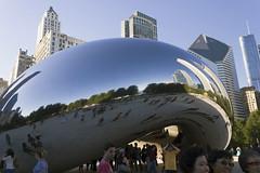 """""""Cloud Gate"""" (Inanimate Carbon Rod) Tags: park plaza sculpture cloud chicago art canon illinois gate bean millennium il att t2i"""