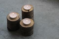 Tiny tree tea candle holders